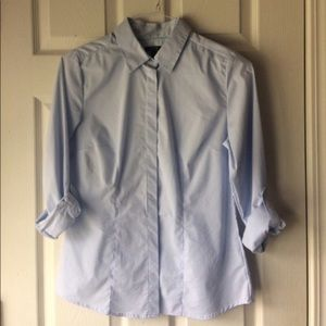 Baby blue button down